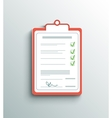 Flat design delivery signature clipboard vector image
