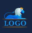 Modern 3d volume lion logo vector image