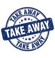 take away stamp vector image