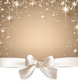 Christmas beige starry background vector image