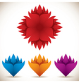 Colorful flower icons set vector image