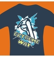 Extreme way - print for sweatshirt vector image