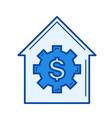house price line icon vector image