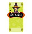witch green poster vector image