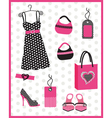 dress card with dots vector image