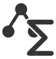 Chemical Formula Icon Rubber Stamp vector image