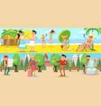 summer vacation horizontal banners vector image