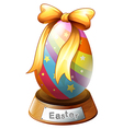 An Easter egg trophy vector image vector image