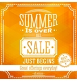 Summer is over but sale just begin banner For vector image