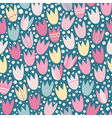 Seamless pattern with stylized tulips vector image