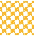 Cheese pattern seamless vector image