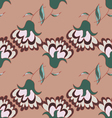 Cute hand drawn pattern with flowers vector image