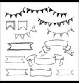 banners and flags icons set vector image