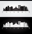 columbia usa skyline and landmarks silhouette vector image