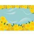 dandelions blue background vector image