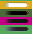 digital style arrow banners vector image