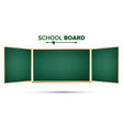 green chalkboard classic empty study vector image