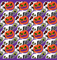 halloween seamless pattern design vector image