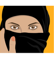 image of young pretty woman with shawl vector image