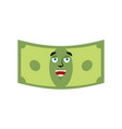 money happy emotion cash emoji cheerful dollar vector image