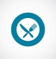 restaurant icon bold blue circle border vector image
