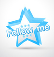 social follow me vector image