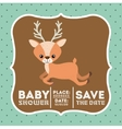 reindeer animal baby shower card icon vector image