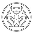 biohazard sign icon outline style vector image