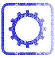gear framed textured icon vector image