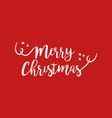 merry christmas quote text lettering vector image