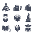 Set of book icons vector image