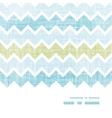 Fabric textured chevron stripes horizontal frame vector image