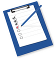 clipboard with checkboxes ve vector image vector image