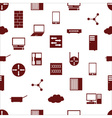 network icons white simple seamless pattern vector image