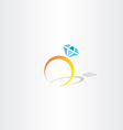 ring with diamond icon logo vector image