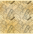 black international travel visa rubber stamps vector image