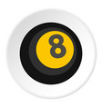 Black snooker eight pool icon circle vector image