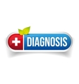 Diagnosis icon button vector image