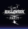 Halloween party label vector image