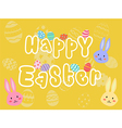 Happy Easter Yellow Greeting Card vector image