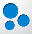 Paper blue round holes vector image
