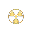 Radiation computer symbol vector image