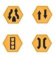 set of transit signals vector image