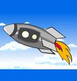 transport space rocket in the sky clouds and vector image