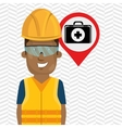 worker protection industrial vector image