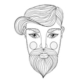 xentangle Portrait of Man face with vector image