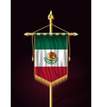 Flag of Mexico Vertical Festive Banner vector image