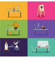 School class room Cartoon backgrounds for vector image