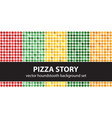 houndstooth pattern set pizza story seamless vector image