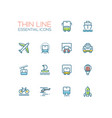 transport - modern single thin line icons vector image vector image